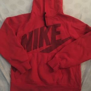 Red Nike pullover sweater